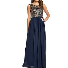 SueJoe Womens Open Back Dress Sleeveless Metallic Lace Crochet Pleated Dresses Navy Blue TagsizeXXXLUSsize1214 * See this great product.