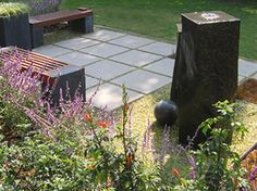 pavers with gravel between. nice.  MEDITATION GARDEN RELIES ON NATURAL ELEMENTS