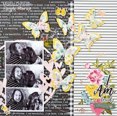 I Am Loved - A scrapbook layout using the Simple Stories I Am collection and digital cut file from JustNick Studios.