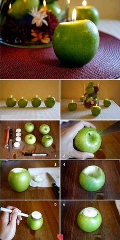 Apple Candles - #candle, #diy