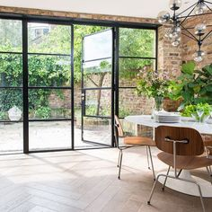 Crittall windows – everything you need to know about black s.- Crittall windows – everything you need to know about black steel frames – Crittall windows – everything you need to know about black steel frames – - House Extension Design, House Design, Crittal Doors, Crittall Windows, Steel Doors And Windows, Steel Frame Doors, Aluminium Windows And Doors, Metal Doors, Black Window Frames