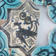 Karatay Medrese, Konya : Single Tile Motifs with Cross Tiles – Haç Karo ile Tek Karo Motifleri-Phoenix Designs – Anka Motifleri