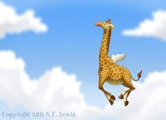 """Flying Giraffe"" by S.T. Lewis"