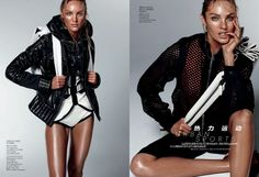 Urban Sports' Candice Swanepoel by Daniel Jackson for Vogue China February 2012 [Editorial]