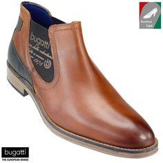 Bugatti férfi bőr bokacsizma 311-19120-1100-6300 konyak Bugatti d0eb4cc01f
