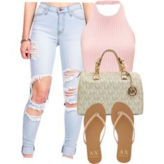 Feb 2018 - A fashion look from May 2015 by zykira featuring Armani Exchange and Michael Kors Polyvore Outfits, Komplette Outfits, Dope Outfits, Summer Outfits, Casual Outfits, Fashion Outfits, Fashion Trends, Polyvore Fashion, Fashion Tips