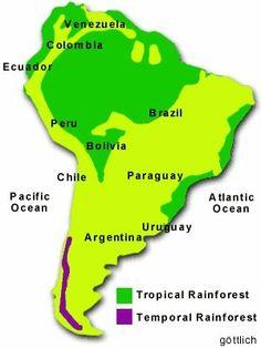 South America Map - Amazon, Argentina, Bolivia, Brazil ...
