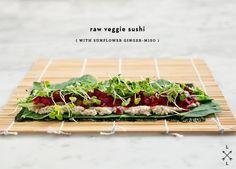 raw veggie sushi
