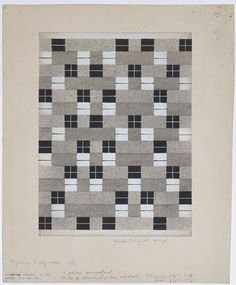"""Anni Albers. Design for Wall Hanging. 1927. Saw this at MOMA in NYC, immediately put it on my mental """"to do"""" list. It would make a great quilt."""
