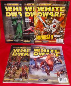 White Dwarf No. 313 No. 315 No. 316 No. 317 No. 318 Games Workshop Hobby Mags #WhiteDwarf