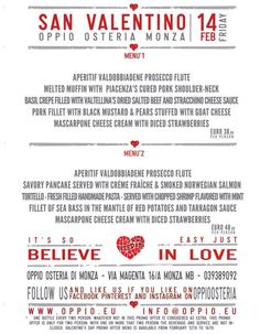 all you need is love ... food&wine! @Maria Yurieva Osteria  Monza 12 - 16 Feb 2014