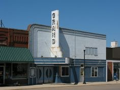 The abandoned Grand Theatre on 6th Street in downtown Dawson, Minnesota