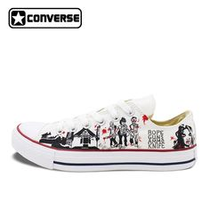 2017 Low Top Converse All Star Men Women's Shoes Custom Design Walking Dead Hand Painted Canvas Sneakers Skateboarding Shoes. Yesterday's price: US $135.00 (110.58 EUR). Today's price: US $124.20 (102.65 EUR). Discount: 8%.