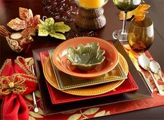 table settings for fall | fall table setting | Tablescapes
