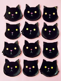 Paper Plate Black Cats ⋆ Handmade Charlotte