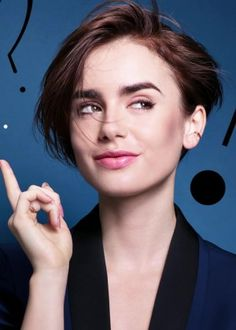 Lily Collins: Lancome Promo Shoot-31