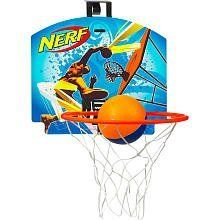 Nerf Sport Nerfoop Classic Basketball Set - Hangtime by Hasbro. $11.27. Play a game of hoops almost anywhere you want! Hang your durable, high performance Nerf Sport Nerfoop Basketball Set Hangtime backboard, hoop and net on a door or wall and the get your game on with a mini basketball that bounces on most indoor floors. Now, you can challenge your friends, show off your skill and make those three point shots right in your own room! The Nerf Sport Nerfoop Basketba...