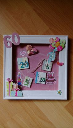 Geschenk Bilderrahmen mit Geld Gift picture frame with money gift picture frame with money The post Diy Gifts For Kids, Diy Gifts For Friends, Gifts For Teens, Diy For Teens, Birthday Cards For Mom, Funny Birthday Gifts, Diy Birthday, Birthday Wishes, Anniversary Crafts