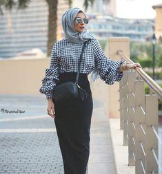 Breathable hijabi outfits – Just Trendy Girls Islamic Fashion, Muslim Fashion, Modest Fashion, Hijab Fashion, Fashion Outfits, Hijab Dress, Hijab Outfit, Modest Dresses, Modest Outfits