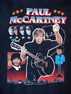 Macca's Back Paul McCartney Liverpool England tour 1999 2sided t-shirt  cotton