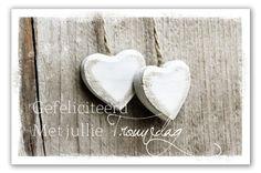 Gefeliciteerd met jullie trouwdag - Lokwinske.nl Happy Anniversary, Wedding Anniversary, Wedding Day, Birthday Wishes, Birthday Cards, Happy Birthday, Blossom Trees, Happy Day, Diy And Crafts