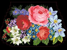 This Pin was discovered by Lud Cross Stitch Tattoo, Cross Stitch Pillow, Cross Stitch Rose, Cross Stitch Flowers, Cross Stitching, Cross Stitch Embroidery, Hand Embroidery, Cross Stitch Patterns, Victorian Cross Stitch