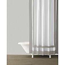 image of Kassatex Edge Frame Shower Curtain