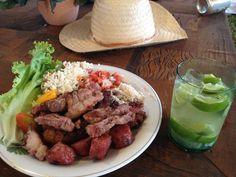 Lunch at Fazenda Santa Alina, Brazil.