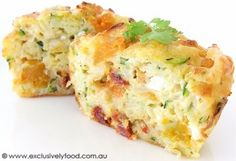 Exclusively Food: Zucchini, Pumpkin and Feta Cakes Recipe