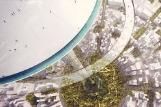 in order to achieve the unprecedented height, twice that of the burj khalifa, engineers developed an exceptionally lightweight structure secured through a net of pre-stressed cables.