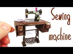 Miniature doll Sewing Machine No polymer clay - YouTube