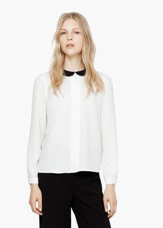 Camisa cuello contraste | MANGO