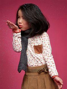 HAPPY PRICE Mädchen Shirt WOLLWEISS BEDRUCKT+GRAU BEDRUCKT