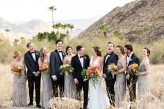 Boho Wedding Party Style // Vibrant Jungle Inspired Palm Springs Wedding via TheELD.com Spring Wedding, Boho Wedding, Bridesmaid Dresses, Wedding Dresses, Party Fashion, Palm Springs, Vibrant, Inspired, Detail