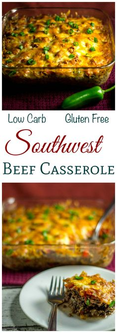 A low carb high fat Southwest Mexican style beef casserole that's loaded with flavor. Perfect for any LCHF Banting Keto diet.