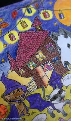 Halloween Värityskuva – Coloring Picture FREE DOWNLOAD