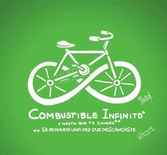 Combustible Infinito *Infinite Fuel As long as you can carry on Bicycle Shop, Bicycle Art, Cycling Art, Cycling Bikes, Cycling Quotes, Bike Logo, Bike Poster, Shop Logo, Tricycle