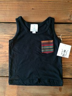 The Jonah Pocket Tee Aztec Pocket Kid Pocket shirt by SandiLake, $14.00