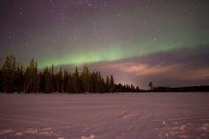 Aurore boréale à Luosto, Finlande.