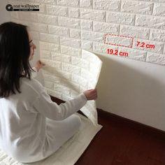 3D pegatinas de pared dormitorio sala de estar decorativos patrón de ladrillo papel pintado auto-adhesivo impermeable anti-colisión