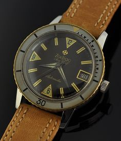 1960s Zodiac Sea Wolf.  I just love these old dive watches!