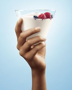 Campaign for the Dairy Farmers of Canada in associate of the Colorectal Cancer Association of Canada. Greek Yogurt, Panna Cotta, Dairy Farmers, Ethnic Recipes, Behance, Canada, Food, Dulce De Leche, Essen