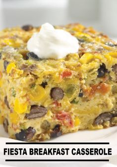 Make this colorful Fiesta Breakfast Casserole recipe for a tasty summer morning!