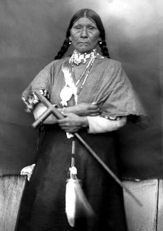 """Marie also known as """"Old Lady Grizzly Bear"""", on the Flathead Indian Reservation in western Montana. Photographed between 1905-7."""