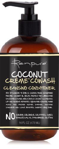 Renpure Coconut Creme Cowash Cleansing Conditioner, 16 Ounce Renpure