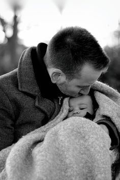 Father and son, Winter portrait session
