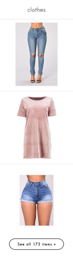"""""""clothes"""" by danny-baby-xoxo ❤ liked on Polyvore featuring dresses, boohoo, tee dress, pink velvet dress, pink dress, pink t shirt dress, velvet dress, tops, t-shirts and shirts"""