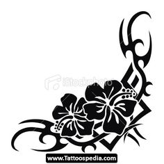 17 Best Hawaiian Tribal Flower Tattoos Images Tribal Flower