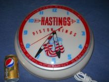 1957 Hastings Light-up Advertising Clock-works | Proxibid Auctions