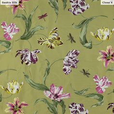 Designer fabric from Manuel Canovas, made in France available at Jane Hall Design